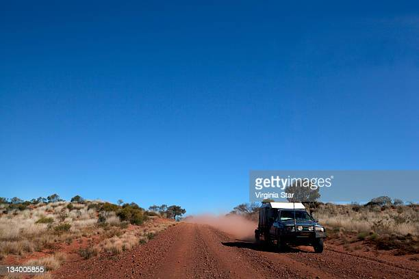 Dusty Dirt Road Travelling Australia