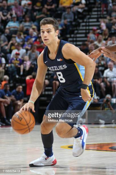 Dusty Hannahs of Memphis Grizzlies handles the ball against the Utah Jazz on July 1 2019 at vivintSmartHome Arena in Salt Lake City Utah NOTE TO USER...