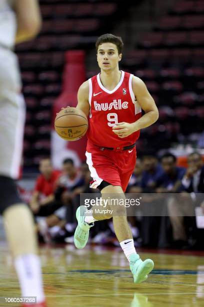 Dusty Hannahs of the Memphis Hustle handles the ball against the Rio Grande Valley Vipers during an NBA GLeague game on November 9 2018 at Landers...