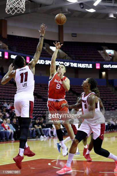 Dusty Hannahs of the Memphis Hustle shoots a running jumper against the Sioux Falls Skyforce during an NBA GLeague game on March 11 2019 at Landers...