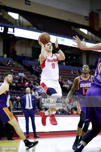 Dusty Hannahs of the Memphis Hustle shoots the ball against the Northern Arizona Suns during an NBA GLeague game on February 21 2018 at Landers...