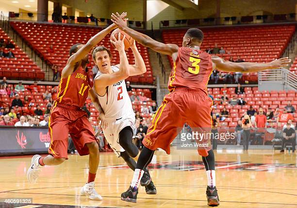 Dusty Hannahs of the Texas Tech Red Raiders splits the defense during game action against the Iowa State Cyclones on January 4 2014 at United Spirit...