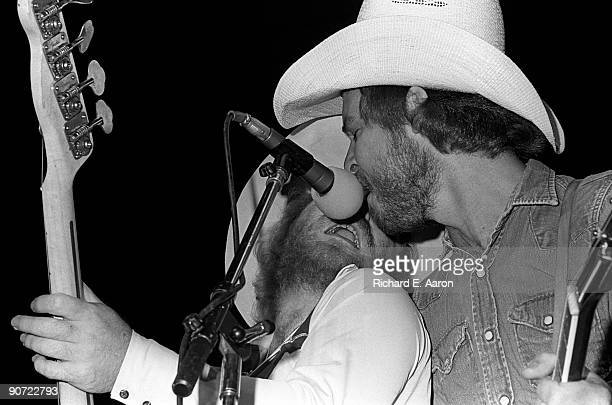 Dusty Hill and Billy Gibbons from ZZ Top perform live on stage in New York on May 18 1975