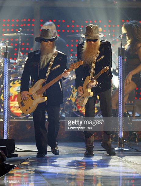 Dusty Hill and Billy Gibbons of ZZ Top during 2007 VH1 Rock Honors Show at Mandalay Bay in Las Vegas Nevada United States