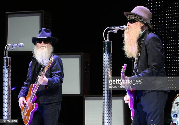 Dusty Hill and Billy Gibbons perform in concert at Nikon at Jones Beach Theater on June 26 2009 in Wantagh New York