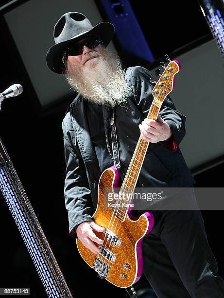 Dusty Hill of ZZ Top performs in concert at Nikon at Jones Beach Theater on June 26 2009 in Wantagh New York