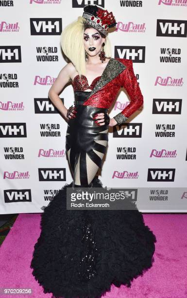 Dusty Ray Bottoms attends VH1's RuPaul's Drag Race Season 10 Finale at The Theatre at Ace Hotel on June 8 2018 in Los Angeles California