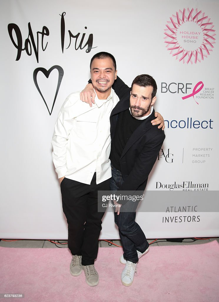 Dusty Reyes (L) and Christopher Savero attend the Holiday House Opening Night Benefit Honoring Iris Apfel at The Sullivan Mansions on November 16, 2016 in New York City.