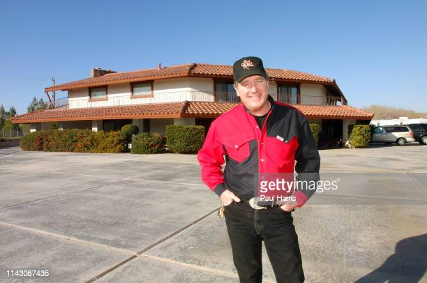 Dusty Rogers son of legendary cowboy Roy Rogers and Dale Evans outside his parents ranch the ranch and all its contents are going to be disposed of...