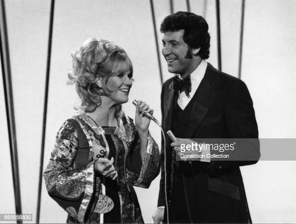 Dusty Springfield and Tom Jones performs on This Is Tom Jones TV show in circa 1970 in Los Angeles California