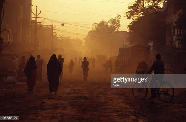 dusty street scene - village stock pictures, royalty-free photos & images