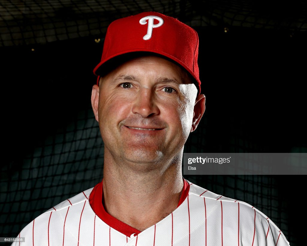 Dusty Wathan of the Philadelphia Phillies poses for a portrait during the Philadelphia Phillies photo day on February 20, 2017 at Spectrum Field in Clearwater, Florida.