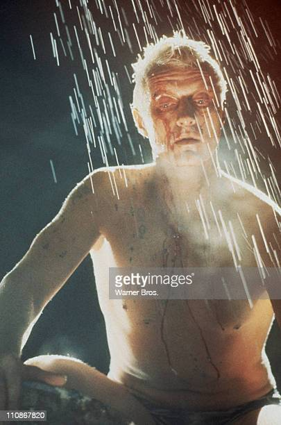 Dutch actor Rutger Hauer as replicant Roy Batty in a scene from Ridley Scott's futuristic thriller 'Blade Runner' 1982