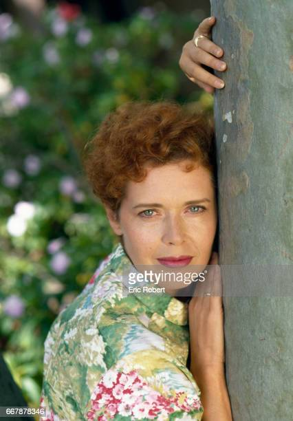 Dutch actress and former model Sylvia Kristel at home in Los Angeles