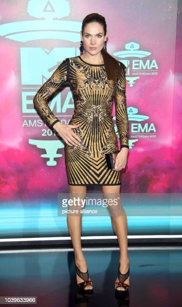 Dutch actress and model Anna Drijver arrives at the MTV Europe Music Awards 2013 ceremony in the Ziggo Dome Amsterdam the Netherlands 10 November...