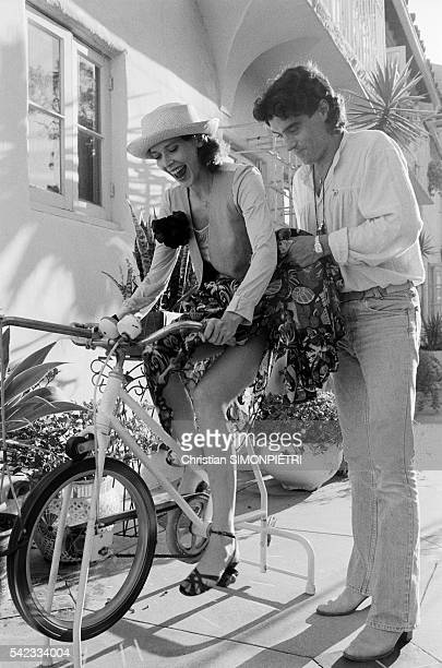 Dutch actress and model Sylvia Kristel and her boyfriend British actor Ian McShane at home in Los Angeles