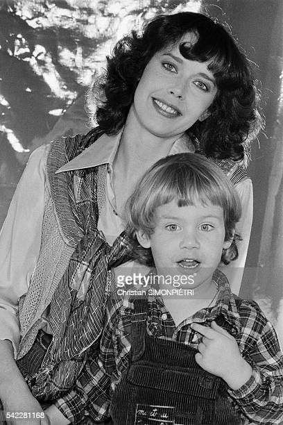 Dutch actress and model Sylvia Kristel and her son Arthur 3