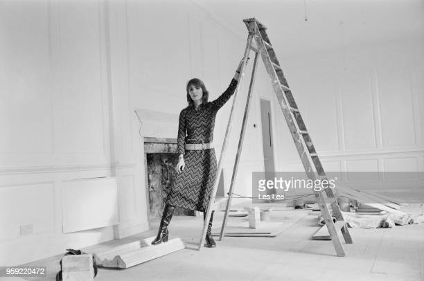 Dutch actress and model Talitha Getty posed in a white room in London on 23rd October 1970