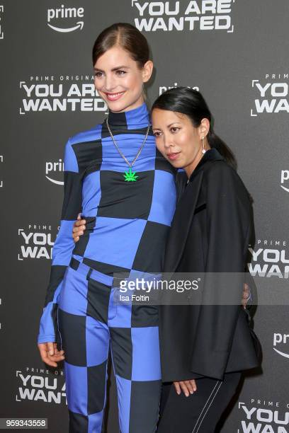 Dutch actress Hannah Hoekstra and German actress MinhKhai PhanThi attend the premiere of the second season of 'You are wanted' at Filmtheater am...