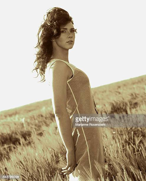 Dutch actress Maruschka Detmers in Normandy