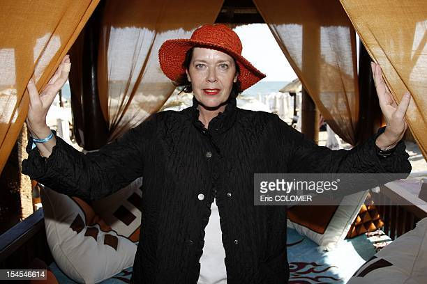 Dutch actress Sylvia Kristel attends at 5th film festival of 'Les Herault du cinema' on June 23, 2008 in Cap d'Agde, Herault department, France....