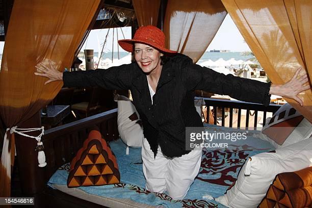Dutch actress Sylvia Kristel attends at 5th film festival of 'Les Herault du cinema' on June 23 2008 in Cap d'Agde Herault department France Sylvia...