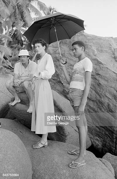 Dutch actress Sylvia Kristel on the set of the film 'Goodbye Emmanuelle' based on the Emmanuelle Arsan novel's directed by Francois Leterrier Sylvia...