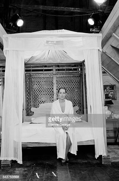 Dutch actress Sylvia Kristel on the set of the film Goodbye Emmanuelle based on the Emmanuelle Arsan novel's directed by Francois Leterrier Sylvia...