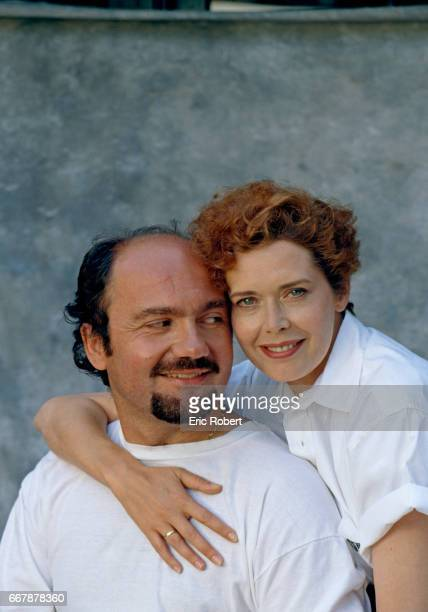 Dutch actress Sylvia Kristel with her husband French director and producer Philippe Blot at home in Los Angeles