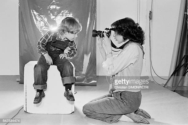 Dutch Actress Sylvia Kristel with Son Arthur