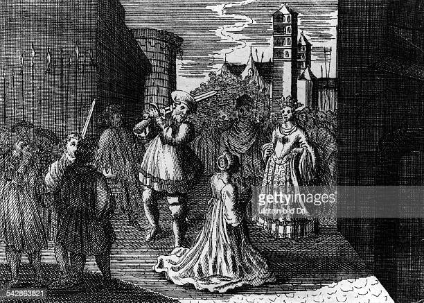 JOHN OF LEIDEN Dutch Anabaptist fanatic and selfproclaimed ruler of the Anabaptist kingdom Shown beheading his own wife in Muenster Germany...