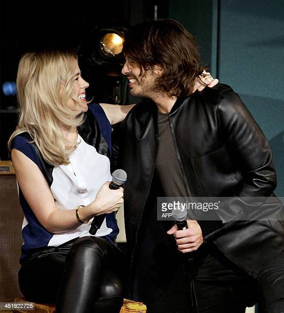 Dutch artists Ilse DeLange and Waylon celebrate after being chosen as Netherlands' representatives at the 2014 Eurovision song contest in Hilversum...