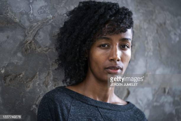 Dutch athlete Sifan Hassan poses at sports center Papendal, in Arnhem on July 22, 2020. - Hassan has to wait another year for the Olympic Games,...