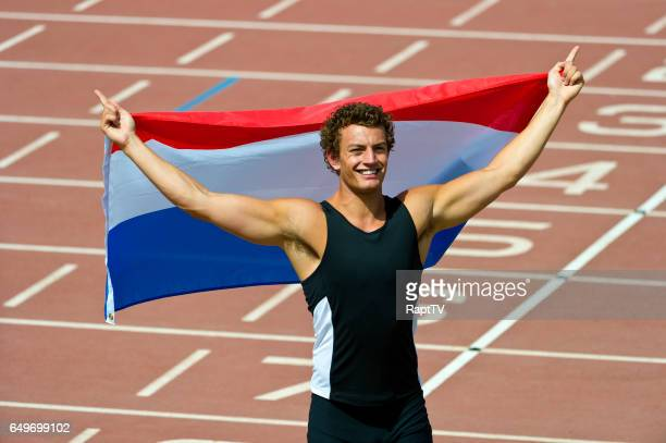 Dutch Athlete with Dutch Flag.