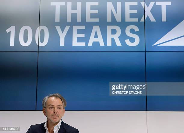 Dutch automobile designer Adrian van Hooydonk chief designer of German car maker BMW attends a press conference to celebrate the company's 100th...