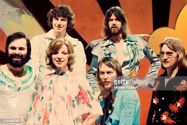Dutch band TeachIn winners of 1975 Eurovision Song Content group portrait on UK TV show London 1975
