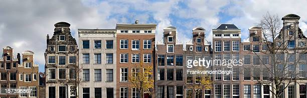 Dutch Canal Houses in a Row