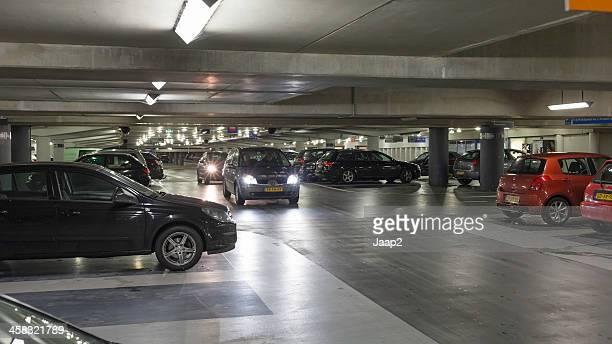 Dutch cars in the van Heek parking garage downtown Enschede