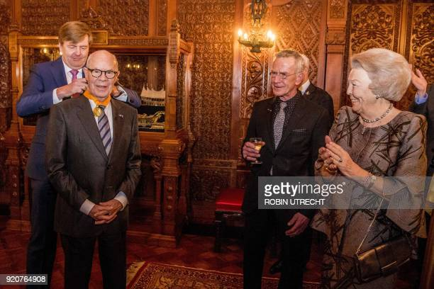 Dutch choreographer Hans van Manen receives a honorary medal of Art and Science of the Order of the House of Orange from Dutch king Willem-Alexander...