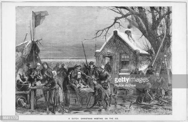 A Dutch Christmas meeting on the ice circa 1600 The Dutch celebrate Christmas or Sinterklaasavond on the 5th December when Saint Nicholas or...