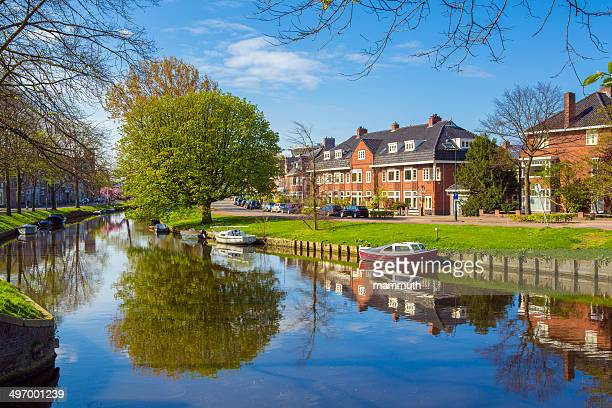 dutch city, haarlem - haarlem stock photos and pictures