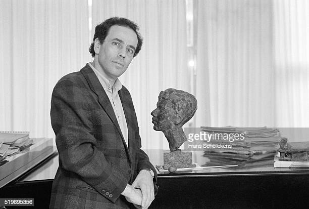 Dutch classical music conductor Ed Spanjaard, poses on December 11th 1996 at his home in Amsterdam, Netherlands. ,