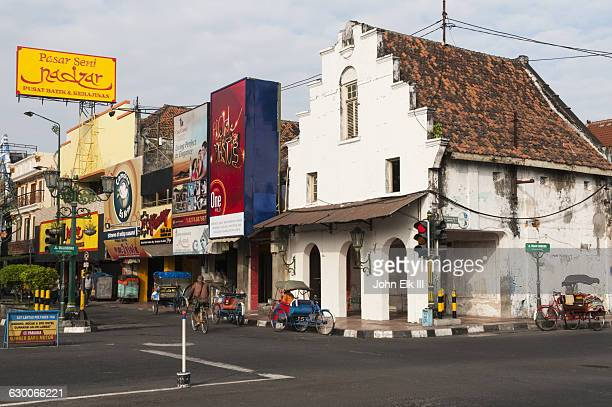 dutch colonial building - yogyakarta stock pictures, royalty-free photos & images