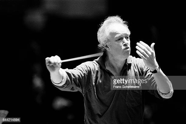 Dutch conductor Edo de Waart performs on April 15th 1992 at the Concertgebouw in Amsterdam, the Netherlands.