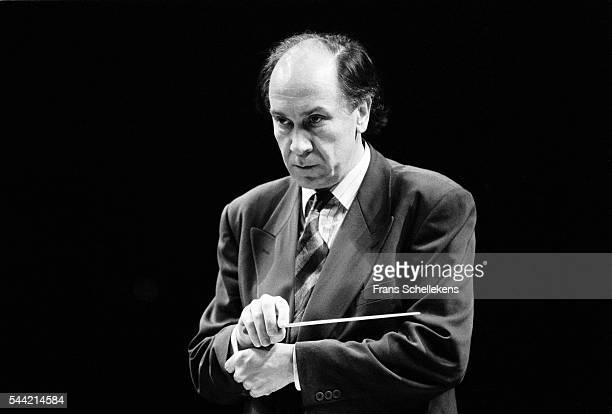 Dutch conductor Hans Vonk performs with the Residentie Orchestra on March 20th 1991 in Madrid, Spain.