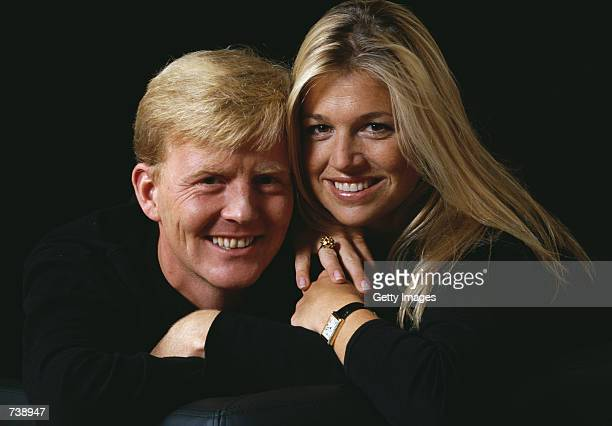 Dutch Crown Prince Willem Alexander and fiancee Argentine Maxima Zorreguieta pose for an undated portrait The couple will marry February 2 2002 in...