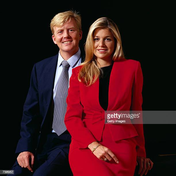 Dutch Crown Prince Willem Alexander , and fiancee Argentine Maxima Zorreguieta pose for an undated portrait. The couple will marry February 2, 2002...