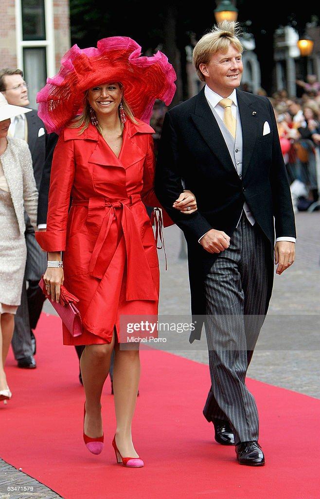 Church Wedding Of Dutch Prince Pieter-Christiaan & Anita Van Eijk : News Photo