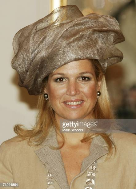 Dutch Crown Princess Maxima poses for a photo at the Royal Palace during a 3-day visit on June 20, 2006 in Belgium, Brussels.