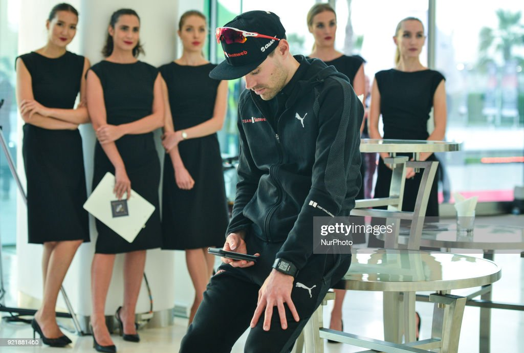 Dutch cyclist Tom Dumoulin from Team Sunweb ahead of the team presentation and the Opening Ceremony of the Abu Dhabi Tour 2018 at the Viceroy Hotel. On Tuesday, February 20, 2018, in the Viceroy Hotel, Abu Dhabi, United Arab Emirates.